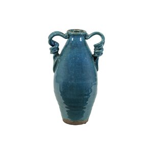 Ceramic Conch Seashell Pitcher Gloss Light Cyan