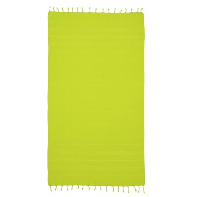 Bay Isle Home Sandspur Pestemal Turkish Cotton Beach Towel Color: Chartreuse