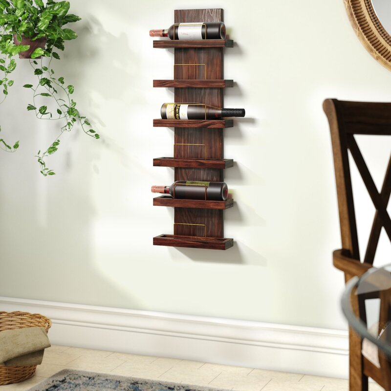 Gomez 6 Bottle Wall Mounted Wine Rack Reviews Joss Main