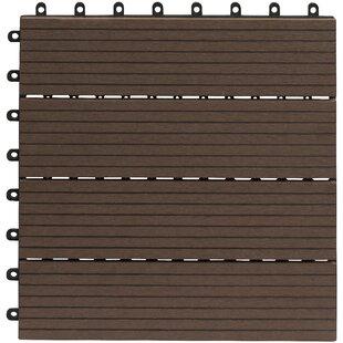 30cm x 30cm Bamboo Decking Tile in Brown (Set of 10) by Gartenfreude GmbH