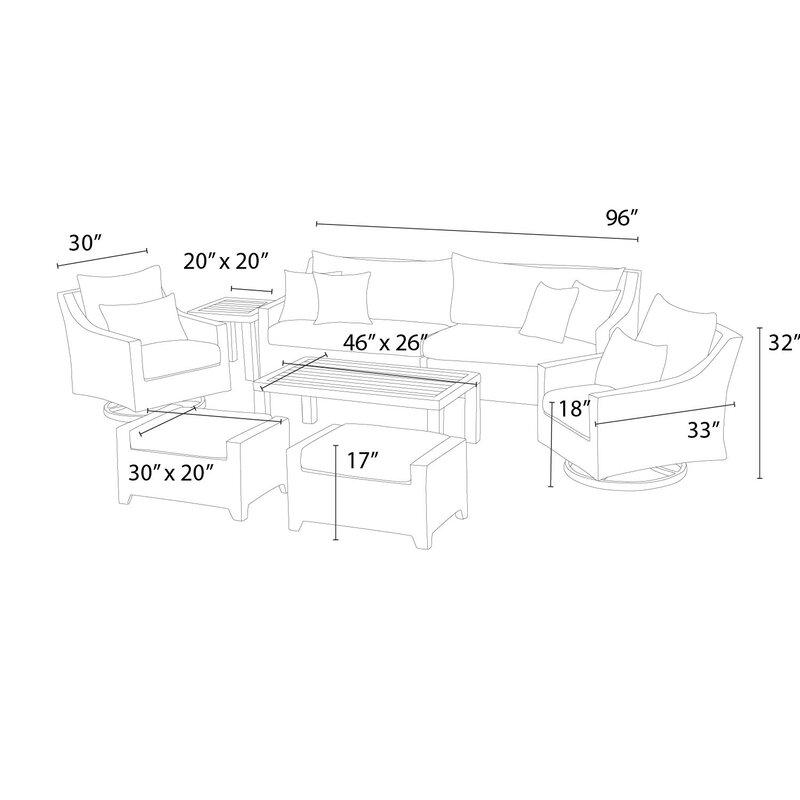 Northridge 8 Piece Sofa Set With Cushions Reviews Joss Main