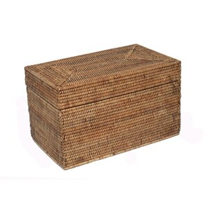 Rattan Small Rectangular Hinged Trunk