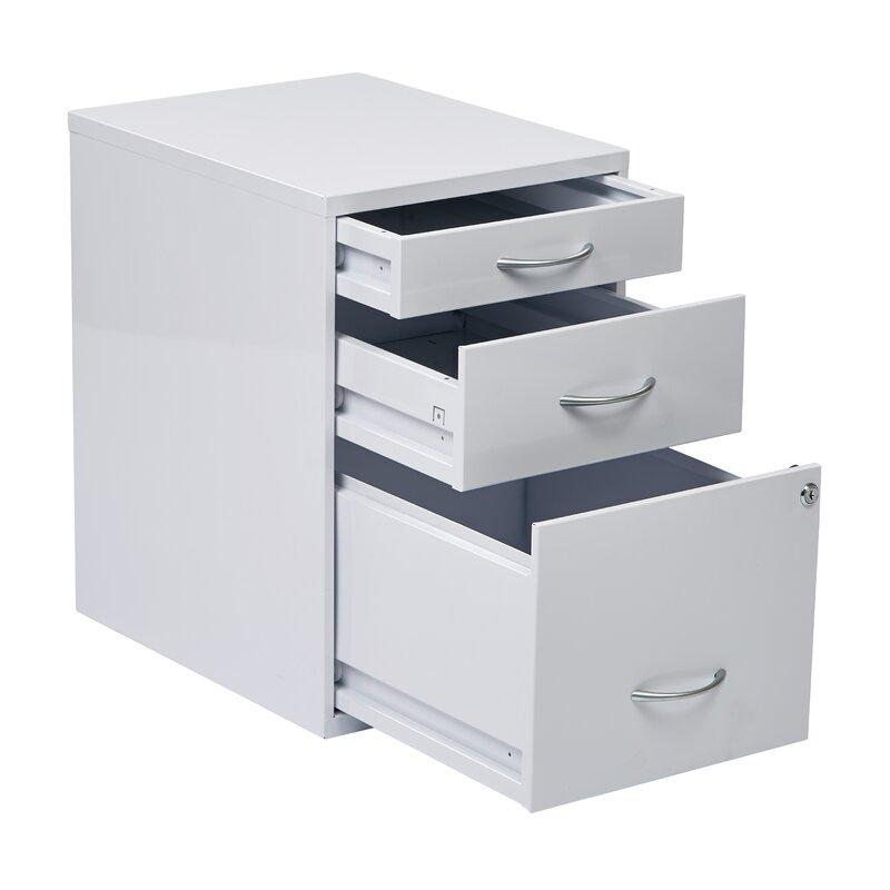 Medrano 3 Drawer Vertical Filing Cabinet