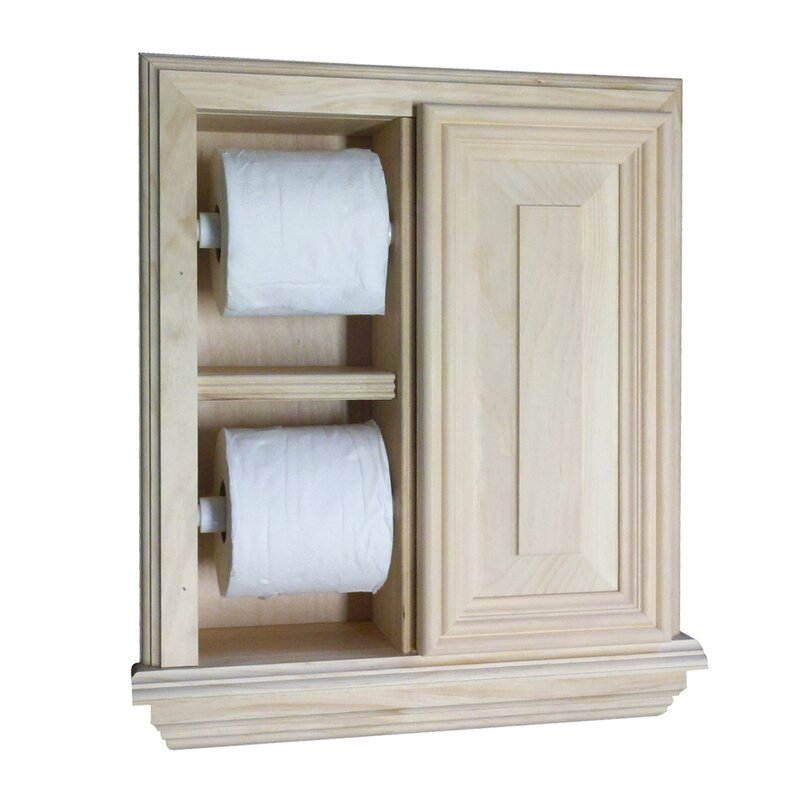 WG Wood Products Recessed Deluxe Toilet Paper Holder & Reviews | Wayfair