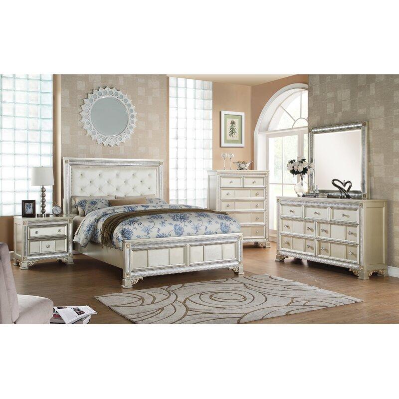 Superior Tiffany Panel Configurable Bedroom Set