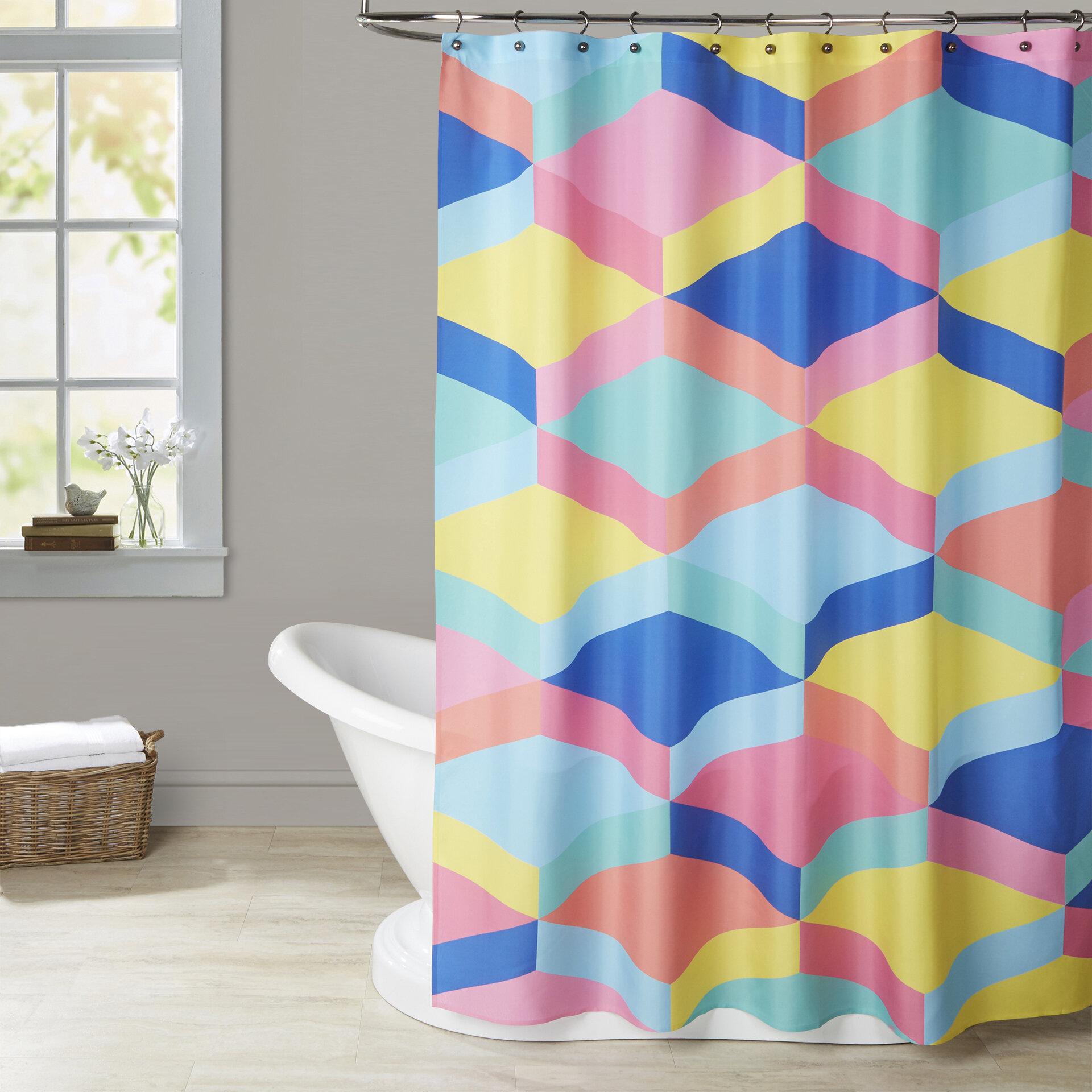 Brayden Studio Ashlee Rae Candy Stairs Shower Curtain