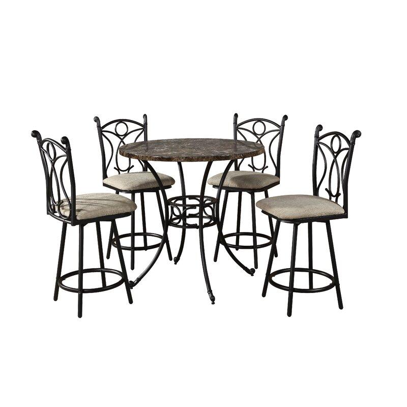 9a7d85e8f6e93 Hazelwood Home Armetta 5 Piece Pub Table Set & Reviews   Wayfair