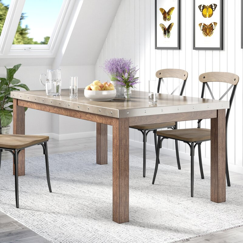Lark Manorstainless Steel Top Dining Table