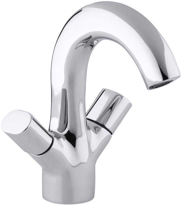 Oblo Single Hole Monoblock Bathroom Sink Faucet