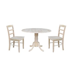 Highsmith 3 Piece Drop Leaf Dining Set