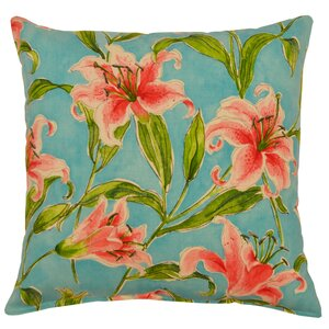 Arvie Lily Cotton Throw Pillow