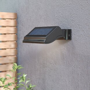 Solar powered outdoor wall lighting youll love wayfair cerridale led floodlight aloadofball Image collections