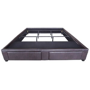 Chamlee Leather Upholstered Storage Platform Bed by Latitude Run