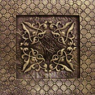Camelot 4 X Metal Igraine Decorative Accent Tile In Bronze