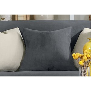 Stretch Suede Pillow Box Cushion Slipcover