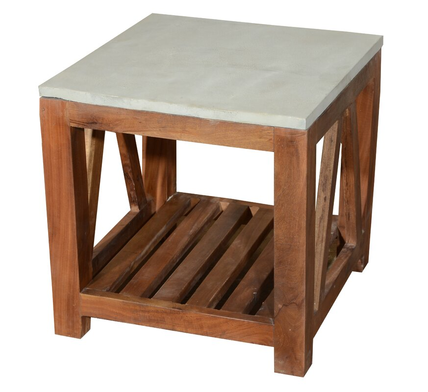 High Quality Concrete Top End Table