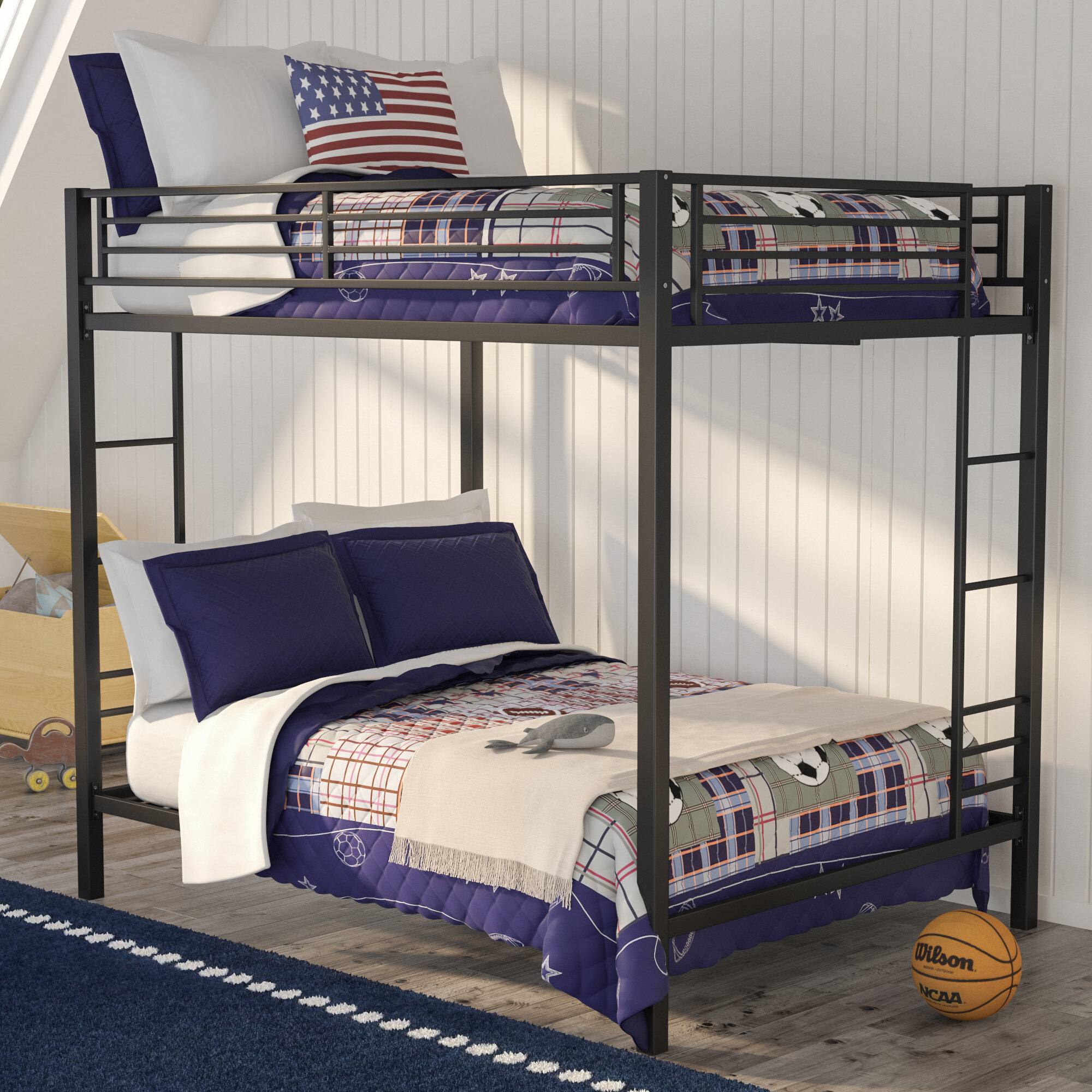 regarding furniture collection duro bunk hayneedle of over beds best hanley white bed full