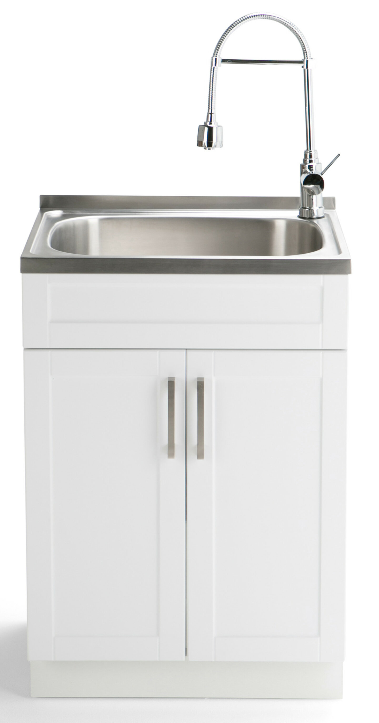 Simpli Home Hennessy 23 6 X 19 7 Freestanding Laundry Sink With