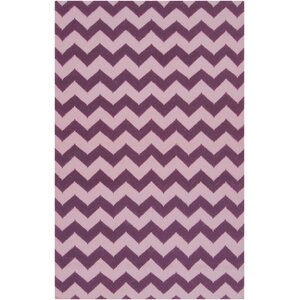 Diego Berry/Light Orchid Chevron Area Rug