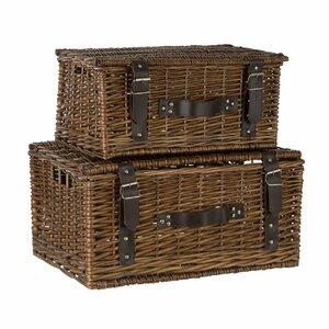 2-tlg. Korb-Set aus Weidenholz von Castleton Home