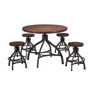 Wellman 5 Piece Adjustable Pub Table Set