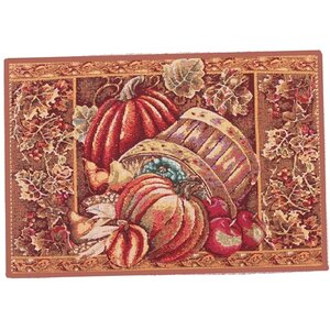 Fall Harvest Bushel Basket Placemat (Set of 4)