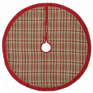Round Plaid Twill  Tree Skirt