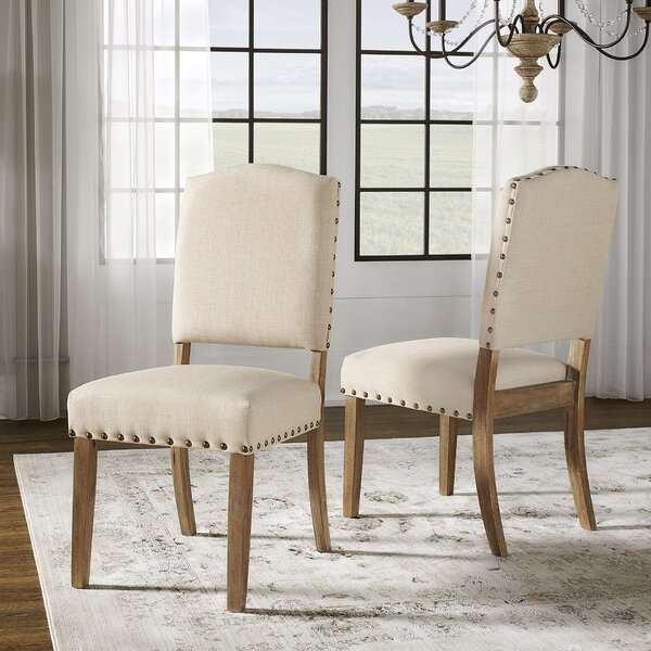 Lark Manor Pompon Upholstered Dining Chair Amp Reviews Wayfair