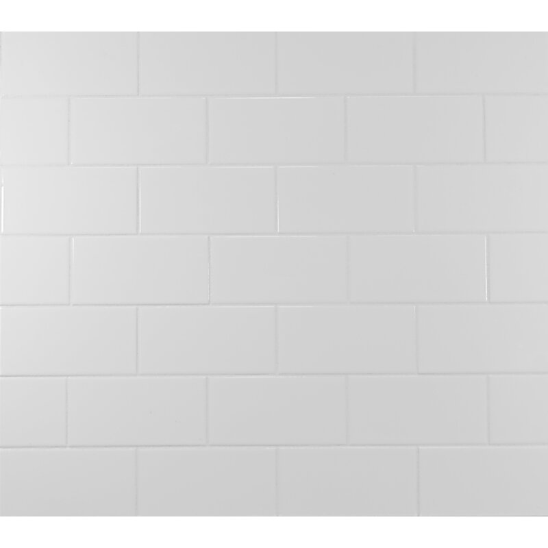 Clic 3 X 6 Ceramic Subway Tile In White