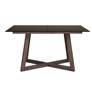 Dobbs Glass Top Extendable Dining Table by Mercury Row