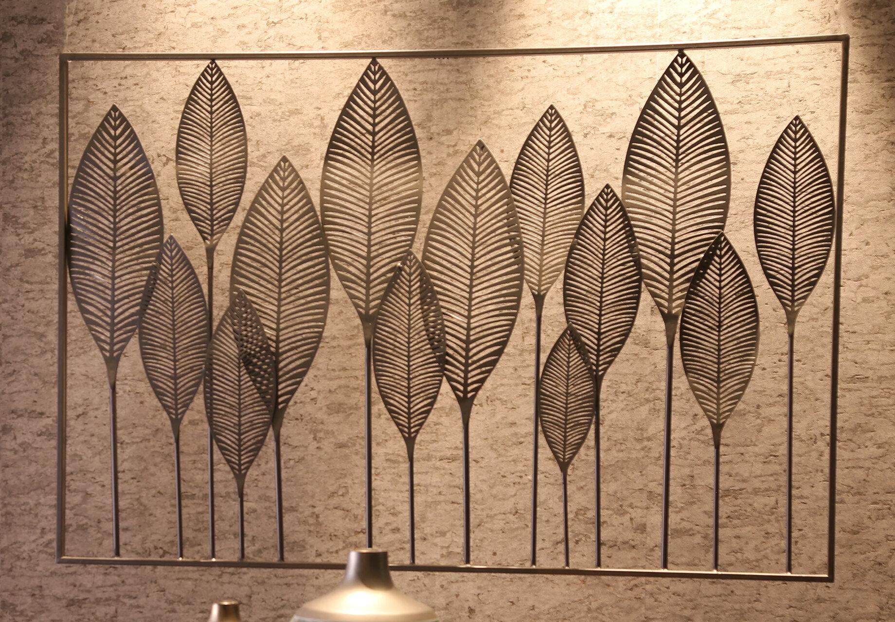 Red Barrel Studio Metal Leaves Wall Décor & Reviews | Wayfair