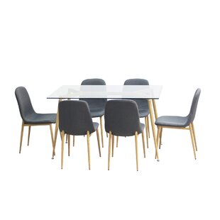 Modern Contemporary Modern 7 Pieces Dining Set Allmodern