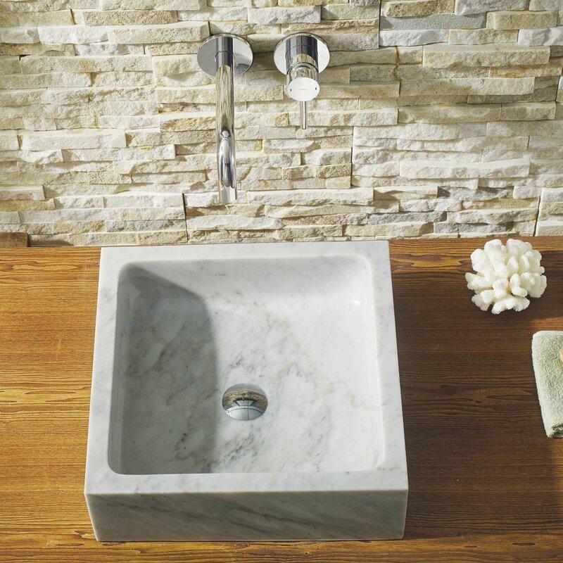 Mya Stone Square Vessel Bathroom Sink