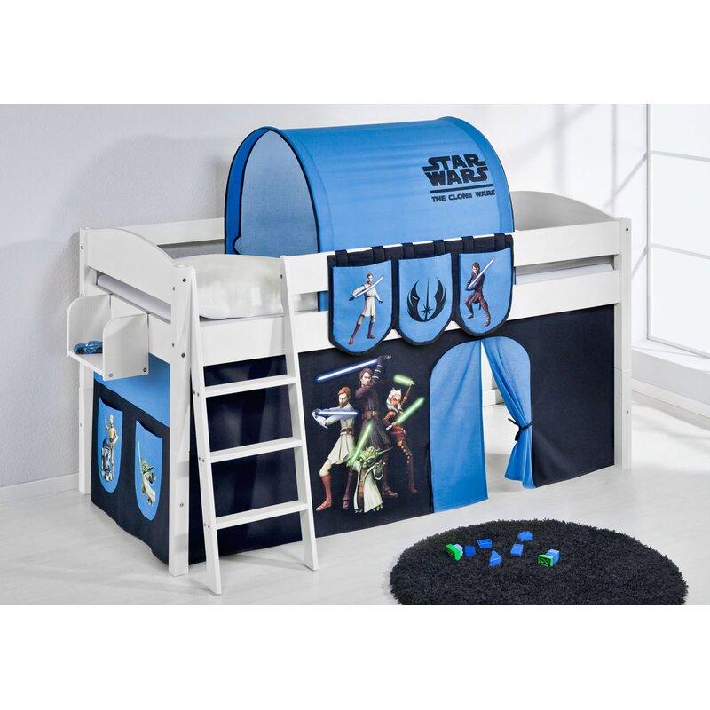 Just Kids Ida European Single Mid Sleeper Bed With Bottom Bunk