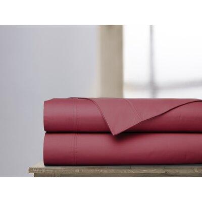 600 Thread Count 100% Cotton Sheet Set Ardor Home Color: Garnet, Size: Queen