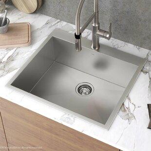 drop in kitchen sink cast iron quickview dropin kitchen sinks youll love wayfair