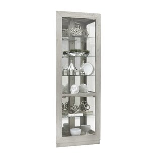 Yuriko Asymmetrical 2 Door Lighted Corner Curio Cabinet