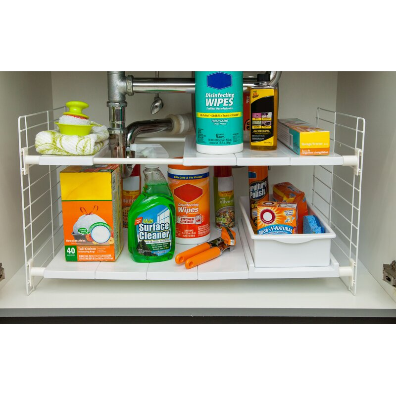 Under Sink Shelving Rack