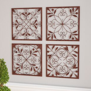 Attirant 4 Piece Bronze Iron Wall Décor Set
