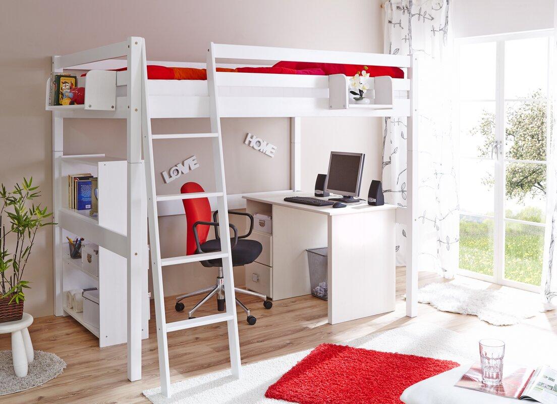 ticaa hochbett tanja mit schr gleiter 140 x 200 cm. Black Bedroom Furniture Sets. Home Design Ideas
