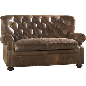 Louis Leather Loveseat by Lazzaro Leather