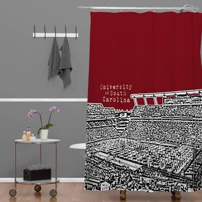 Bird Ave University Of South Carolina Dark Shower Curtain