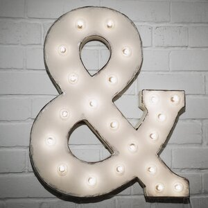 Marquee Ampersand Sign Letter