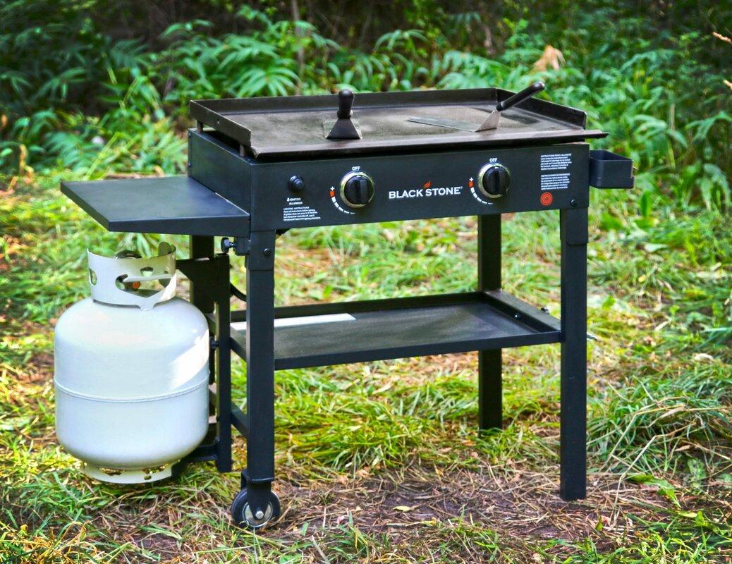 Blackstone 2 Burner Propane Gas Grill With Side Shelves