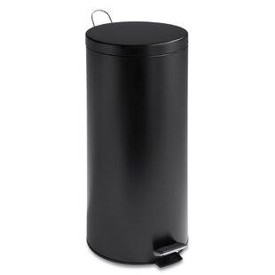 Metal 7.9 Gallon Step On Trash Can