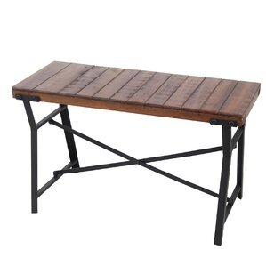 Rathben Iron and Wood Bench by Birch Lane?