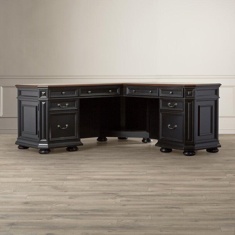 Wondrous Darby Home Co Stinal Shape Executive Desk Reviews Wayfair Wiring Cloud Brecesaoduqqnet