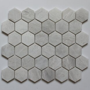 Honeycomb 2 X Marble Mosaic Tile In Iceberg
