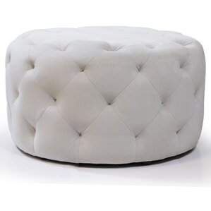 Horncastle Round Tufted Padded Ottoman by House of Hampton