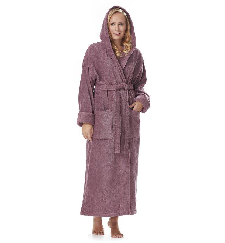 a0bd0388a3 Red Barrel Studio Hovis 100% Cotton Terry Cloth Bathrobe